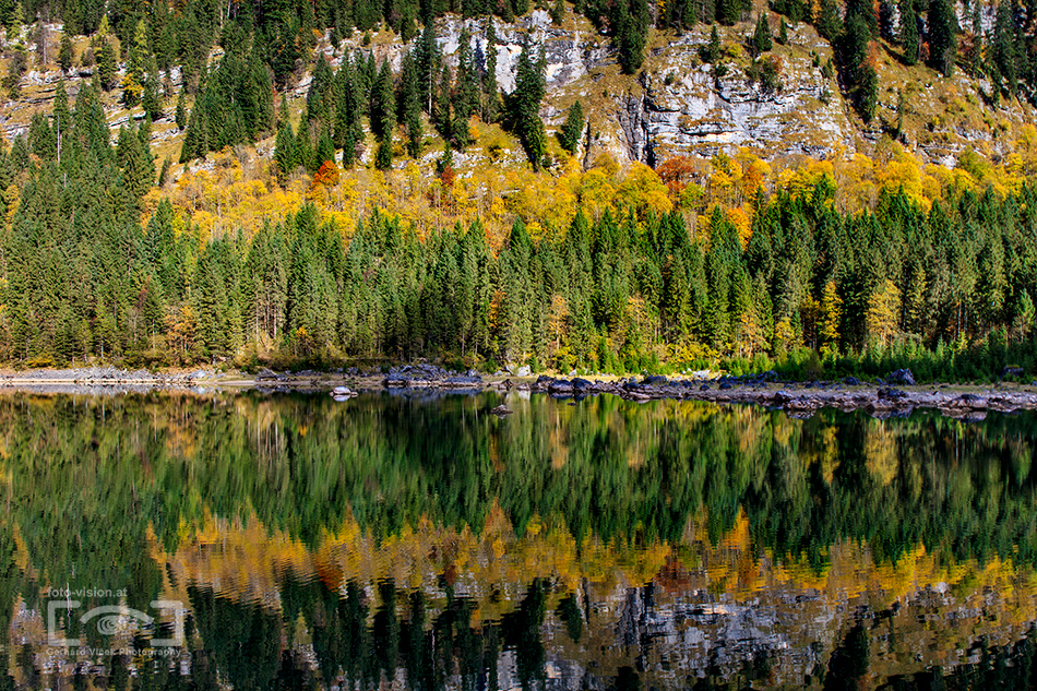 Autumn mirror at Lake Gosau