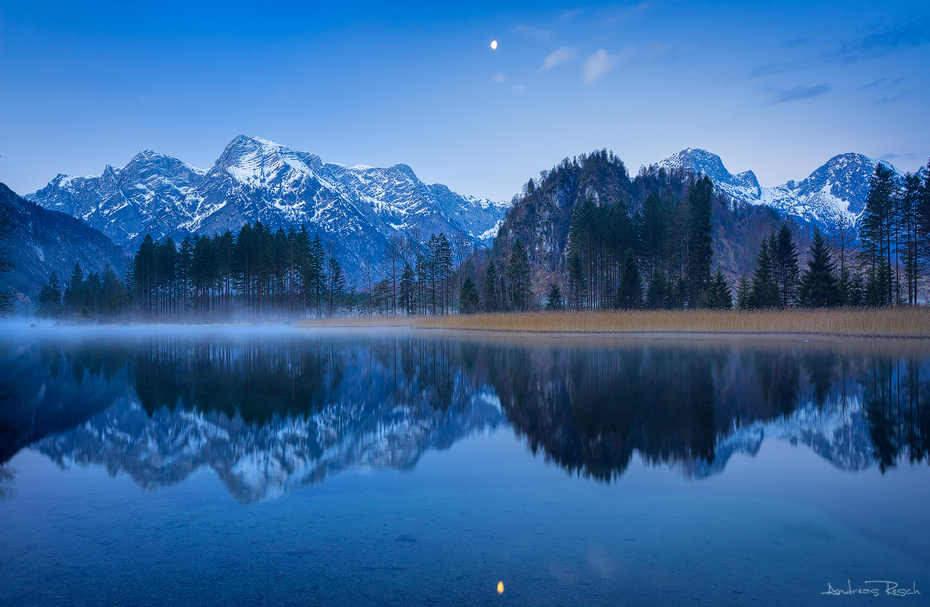 Moon over Almsee Lake