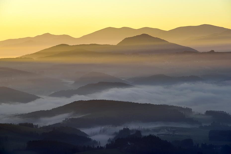 Nebelschwaden im Almenland