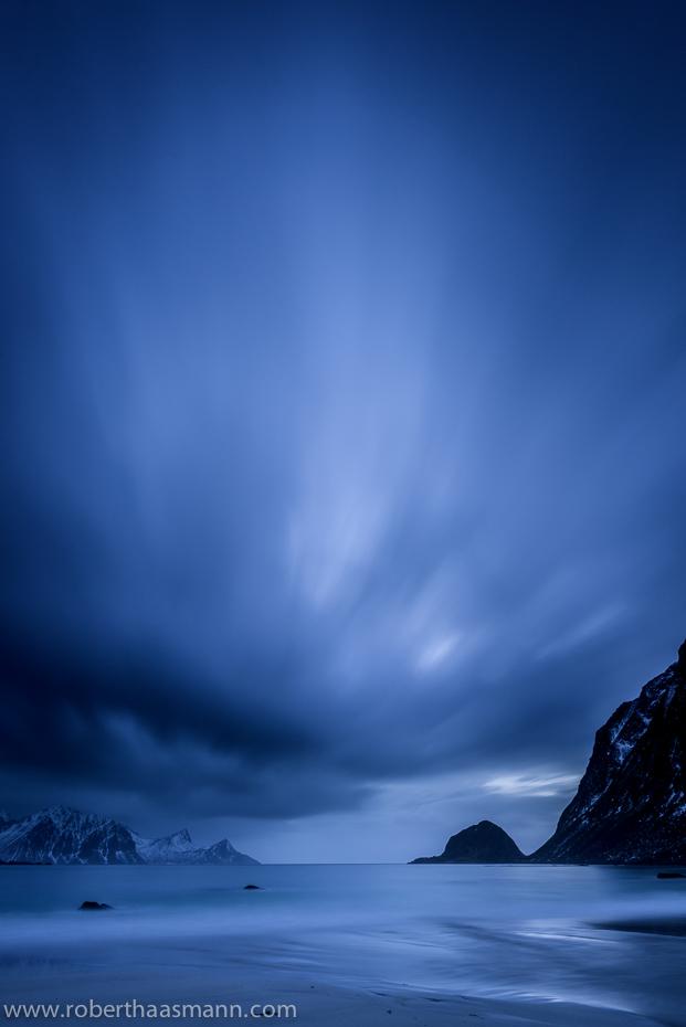 Haukland in blue