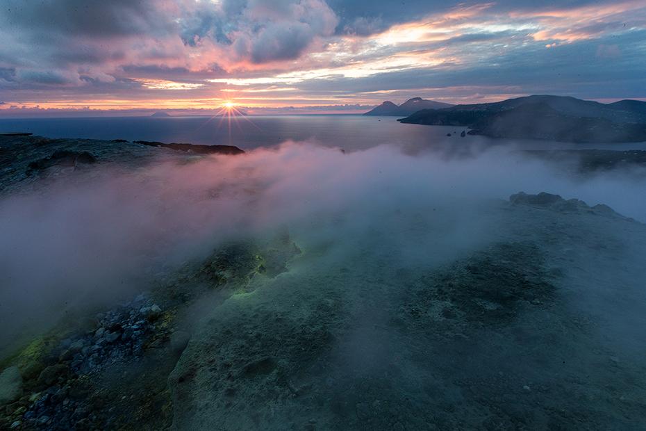 Sunset on Vulcano