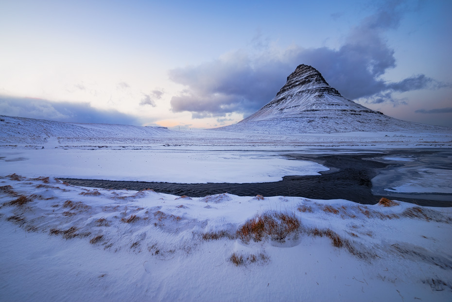Kirkjufell Winter Evening