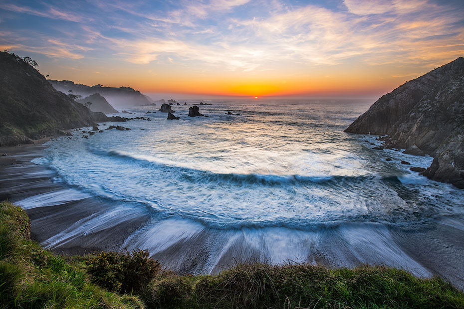 Playa del Silencio Sunset