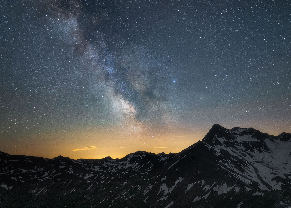 Milky Way Above The Mountains