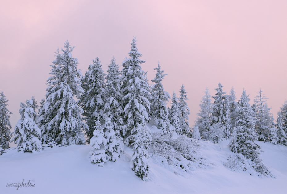 Winter in the Zillertal Mountains
