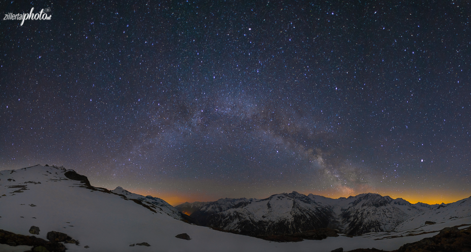 Night in the Zillertal Mountains